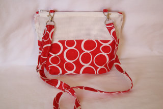 Picture of Red/White  All in One Bonding Pouch Large