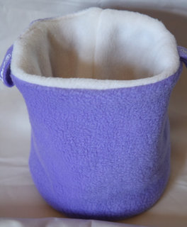 Picture of Lilac/White Round Bottom Pouch